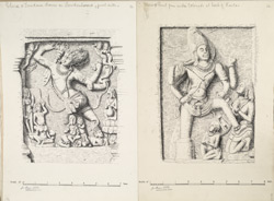 Ellora: panels from Lankesvara and Kailasa